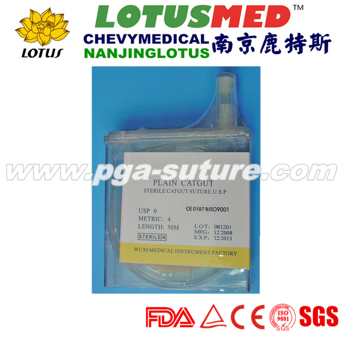 Disposable Natural Absorbable Surgical Plain Catgut Sutures